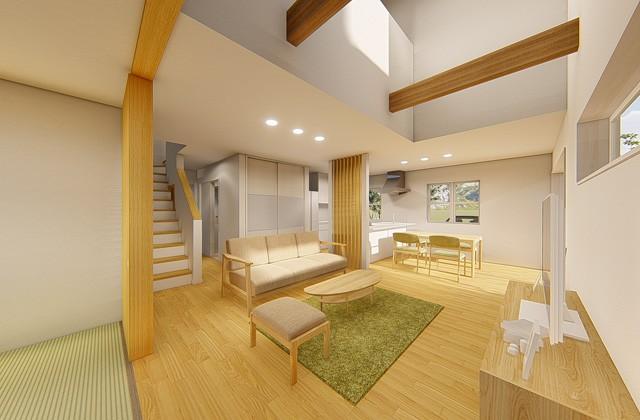 七呂建設 鹿児島市坂之上にて「暮らし・仕事・家族の会話も充実 ロフトでゆったり43坪2階建ての家」の完成見学会