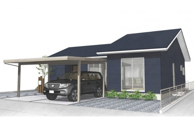 ユニバーサルホーム 姶良市平松にて「開放感のある勾配天井と床暖房のある平屋の家」の完成見学会