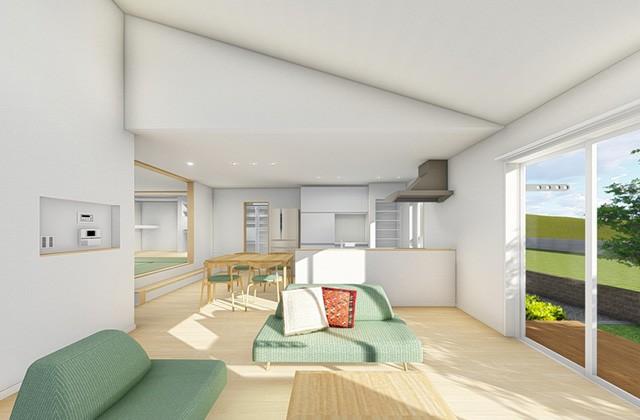 七呂建設 鹿児島市西伊敷にて「開放的なLDKと家族が集う主寝室のある 回遊動線が快適な家事ラク平屋の家」の完成見学会