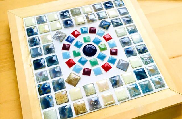 グッドホームかごしま 鹿児島市明和にて「モザイクタイルを使った鍋敷きを作るワークショップ」