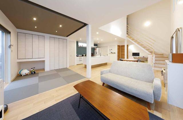 七呂建設 鹿児島市坂之上にて 「32坪の2階建てで圧倒的な開放感 パノラマLDKと暮らすZEHの家」の完成見学会