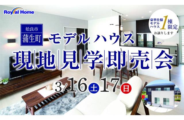 ロイヤルホーム 姶良市蒲生町にて豪華仕様モデルハウス1棟限定の現地見学即売会