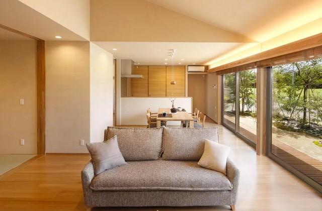ヤマサハウス 出水市野田町にて「勾配天井のある平屋の家」の完成見学会