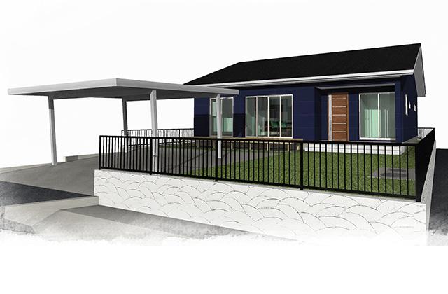 霧島市国分下井にてユニバーサルホームの平屋 完成見学会