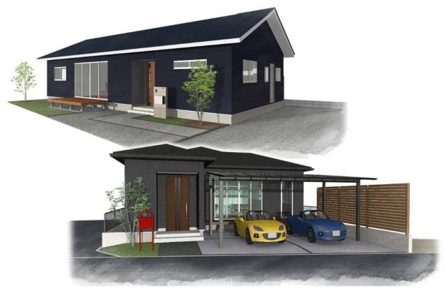 ユニバーサルホーム 鹿児島市桜島・常盤にて「平屋の家」の2棟同時完成見学会