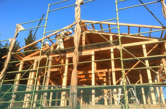 グッドホームかごしま 鹿児島市吉野町にて「漆喰と無垢の家」の構造見学会