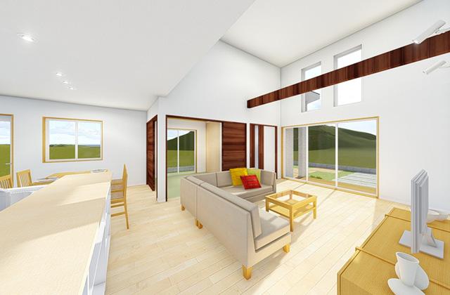 七呂建設 霧島市国分にて「2世帯3世代がゆったり暮らすスキップフロアで充実の収納を叶える家」の完成見学会