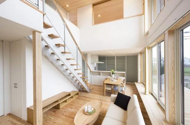 ヤマサハウス 鹿児島市谷山中央にて「勾配天井で広々としたリビングの2階建て」の完成見学会