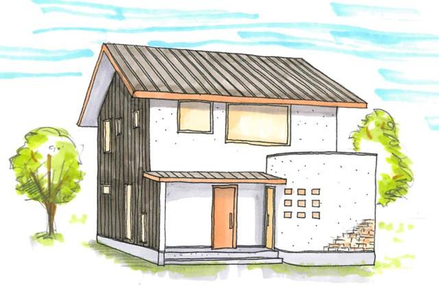 グッドホームかごしま 南さつま市にて漆喰と無垢の家「アール壁のある家」の完成見学会