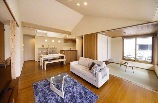 ヤマサハウス 鹿屋市田崎町にて「天井高2m70㎝で開放的なLDKのある平屋」の完成見学会