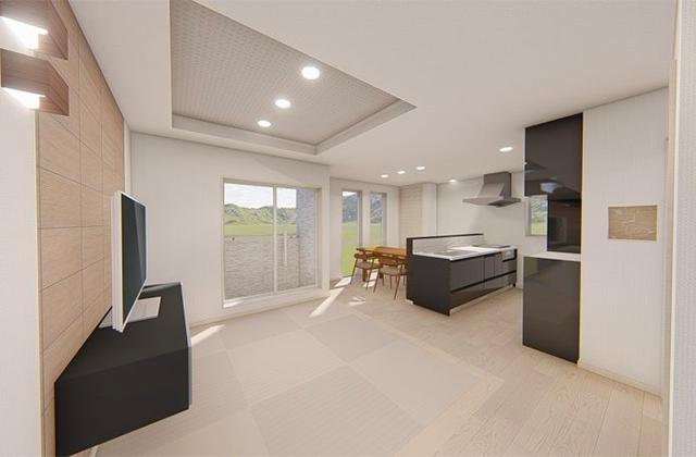 七呂建設 鹿児島市上竜尾町にて「25坪の狭小地に3階建てガレージ付き32坪5LDKの家」の完成見学会