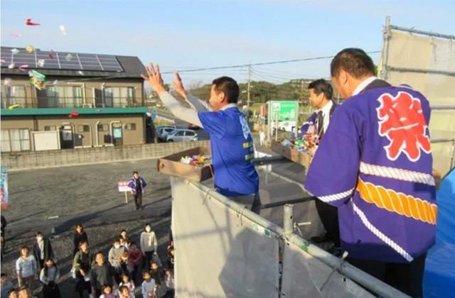 ヤマサハウス 薩摩川内市五代町にてLCCMモデルハウスの上棟式+構造案内会