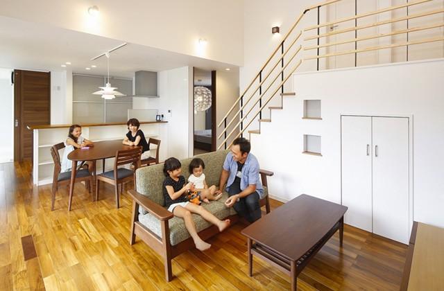 七呂建設 姶良市にて平屋モデルハウス「開放的で明るいリビングに家族が集う家」の見学会