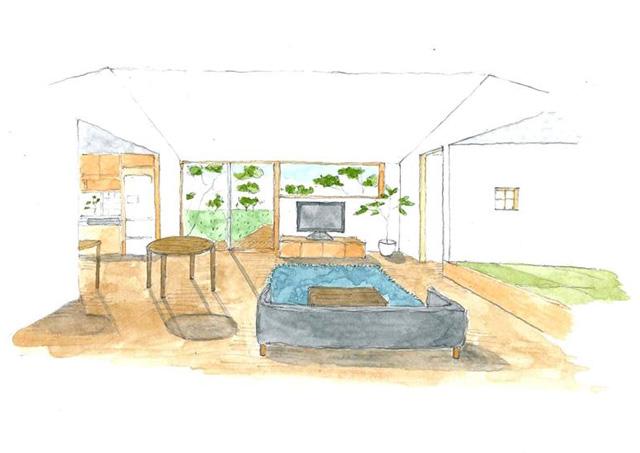 ベガハウス 出水市高尾野町にて「変形した敷地にのびのびとした平屋」の完成見学会