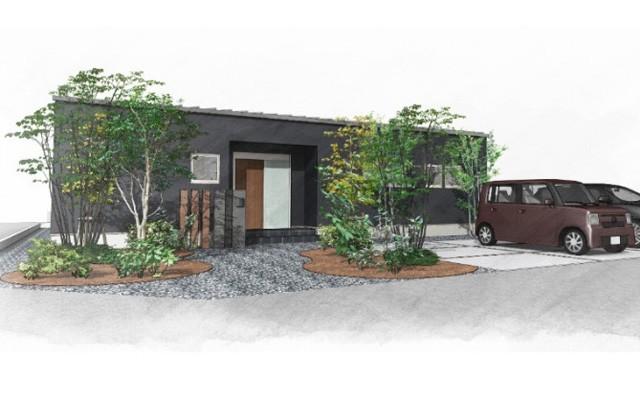 ユニバーサルホーム 鹿児島市中山町にて「土間と中庭が印象的な平屋」の完成見学会
