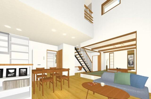 七呂建設 鹿児島市玉里団地にて「広々19帖のLDK+段上がり和室のある家」の完成見学会