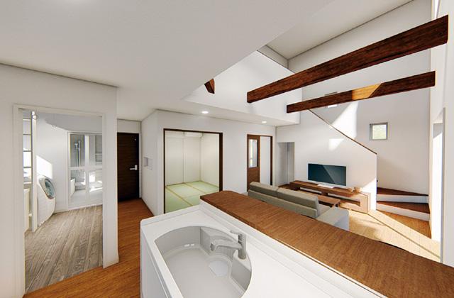 七呂建設 鹿児島市下福元町にて「カフェスタイルのLDKと暮らす33坪2階建ての家」の完成見学会