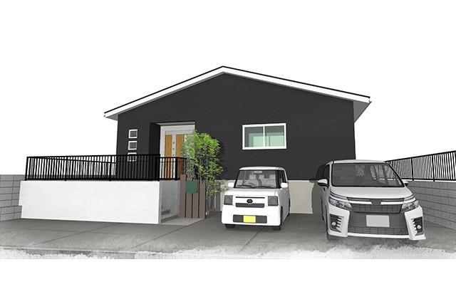 ユニバーサルホーム 姶良市東餅田にて「凹の字型で中庭のある家」完成見学会