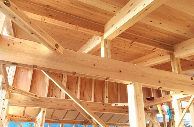グッドホームかごしま 鹿児島市郡山町にて「漆喰と無垢の家」の構造見学会