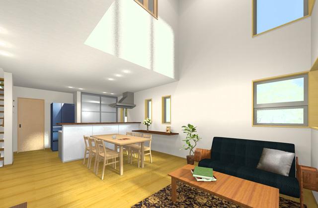 七呂建設 鹿児島市宇宿にて注文住宅「3つの大型収納と明るく開放的なLDKのある家」の完成見学会