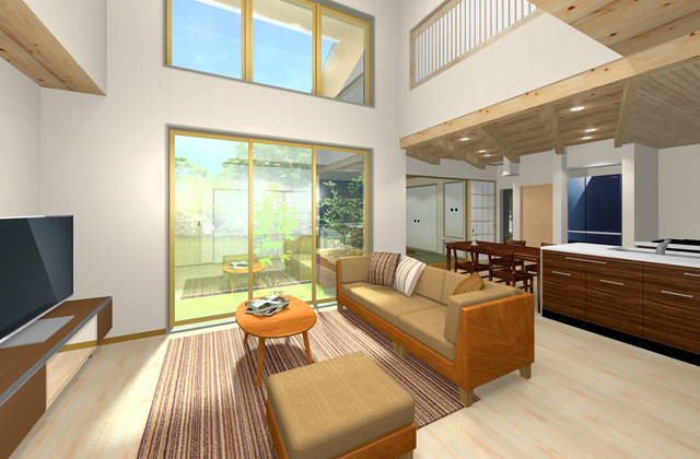 七呂建設 鹿児島市吉野町にて注文住宅「密集地でも光あふれる中庭のある家」の完成見学会