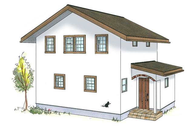 グッドホームかごしま 鹿児島市桜ヶ丘にて「漆喰と無垢の家 三角屋根のかわいい家」の完成見学会