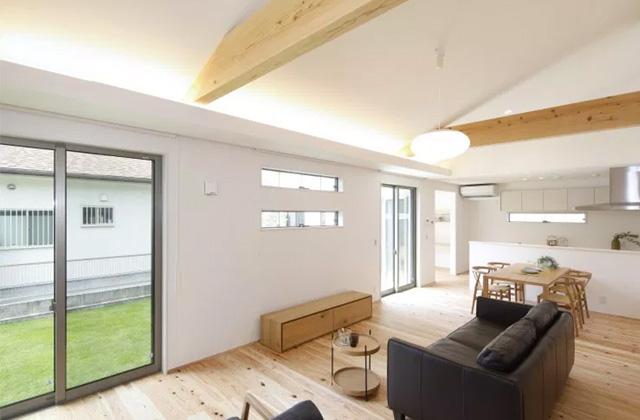 ヤマサハウス 鹿児島市本名町にて「開放感バッチリの勾配天井のある平屋」の完成見学会