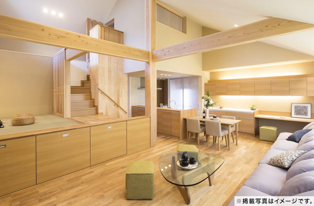 薩摩川内市東郷町にて注文住宅「スキップフロアのある平屋の家」の完成見学会