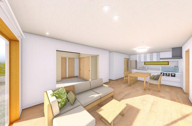 七呂建設 志布志市志布志町にて「のびのび暮らす33坪5LDKの平屋の家」の完成見学会