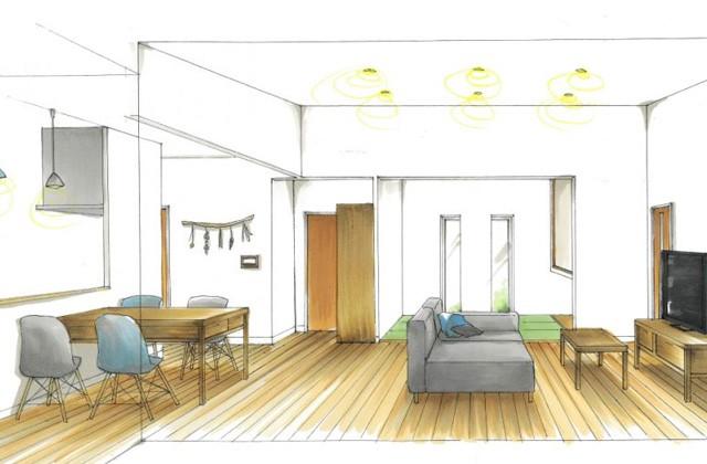 トータルハウジング 鹿児島市坂之上にて「吹き抜けリビングが自慢の将来性のある2階建て」の新築発表会