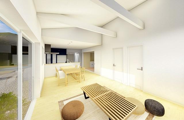 七呂建設 鹿屋市串良町にて「家事を楽にする工夫と空間に可変性のある平屋」の完成見学会