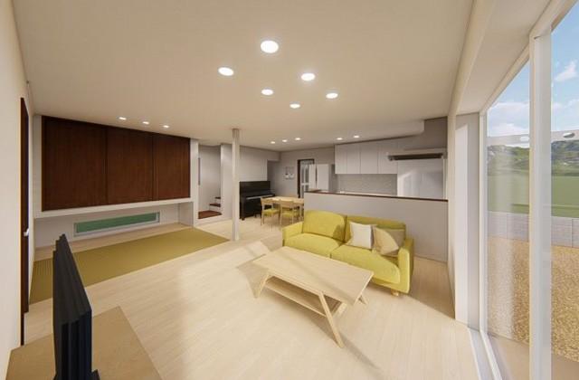 七呂建設 鹿児島市谷山中央にて「スムーズな動線とゆったり空間を両立4人家族にちょうどいい家」の完成見学会