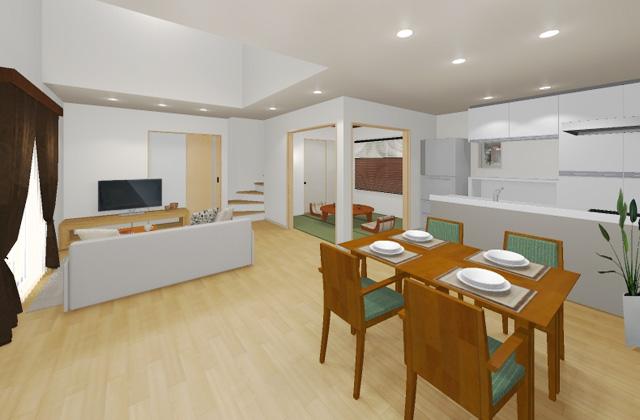 七呂建設 鹿児島市明和にて「南向きのサニタリールームと玄関に大容量収納がある家事時間を1/2にするお家」の完成見学会