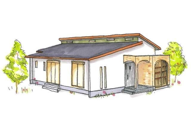 グッドホームかごしま 鹿児島市吉野町にて「三角屋根のかわいいお家 漆喰と無垢の家」の完成見学会