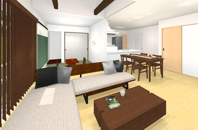 七呂建設 南さつま市加世田にて「1階のLDKと和室が明るく開放的な家事1/2の家」の完成見学会