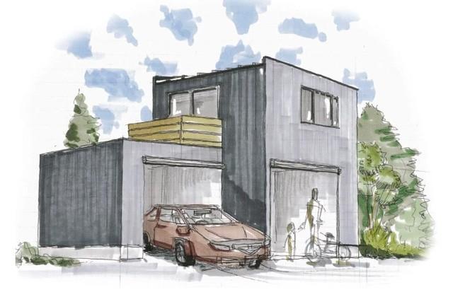 ベルハウジング いちき串木野市湊にて「車好きオーナーのガレージハウス」の完成見学会
