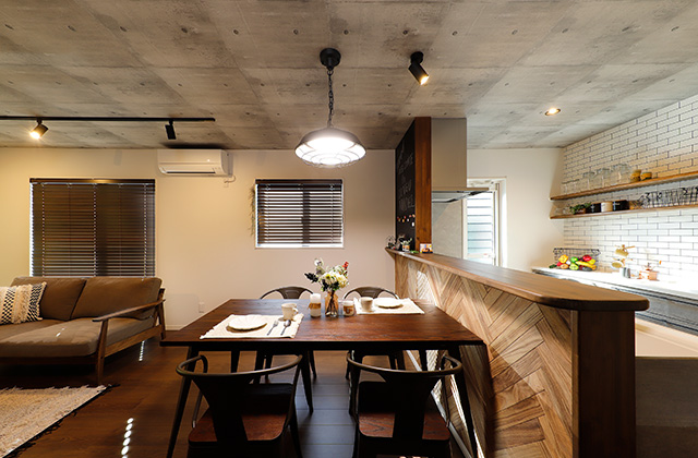 ダイニング - 隼人町神宮モデルハウス「月々3万円台からの家づくりを叶える低価格なのに高品質な平屋」(霧島市)