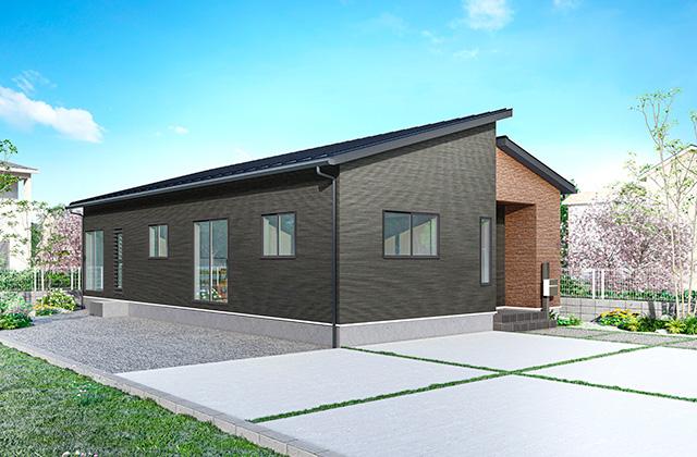 外観 - 隼人町神宮モデルハウス「月々3万円台からの家づくりを叶える低価格なのに高品質な平屋」(霧島市)