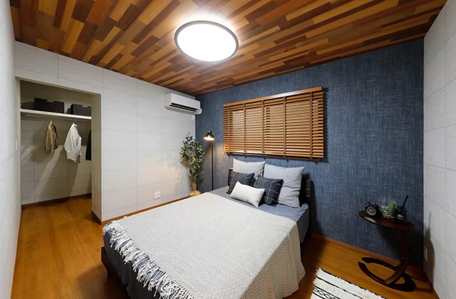 寝室 - 伊敷町鹿児島北モデルハウス「時を経て愛着を増す経年優化のヴィンテージスタイルのモデルハウス」(鹿児島市)