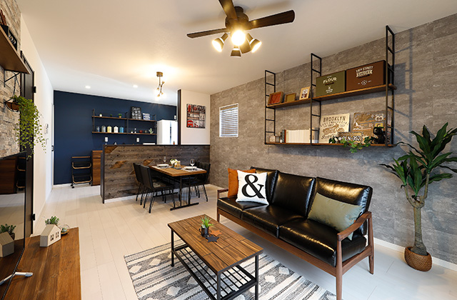 リビング - 隼人町住吉モデル「月々3万円台〜、ローコストなのにおしゃれで高品質な家」(霧島市)