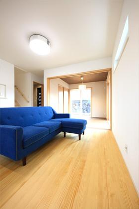 リビング - 1階に和室のある北欧ナチュラルなお家 - 建築事例 - デザインカフェスタジオ