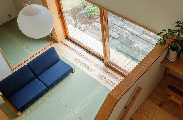 リビングを見下ろす - 「うけつぐ、光と緑」(鹿児島市) - ベガハウスの建築事例