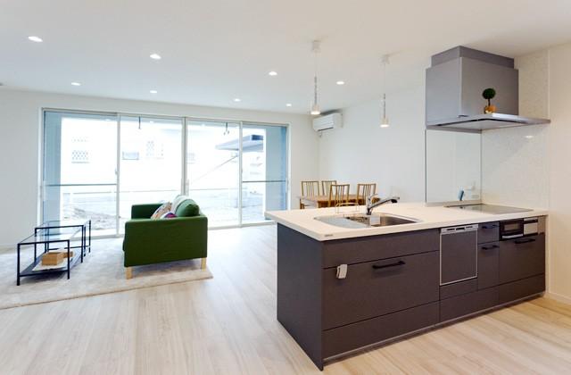 アイフルホーム セシボfだからこそ実現できた大空間LDKと家族の会話もはずむオープンキッチン