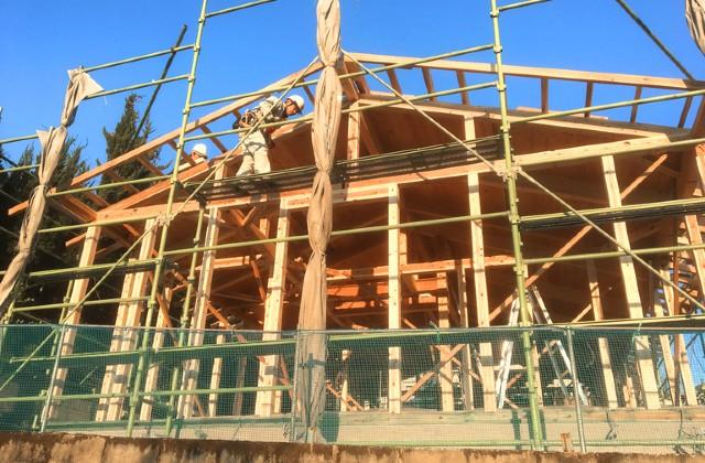 鹿児島市東谷山にて「漆喰と無垢の家」の構造見学会【3/1-31】