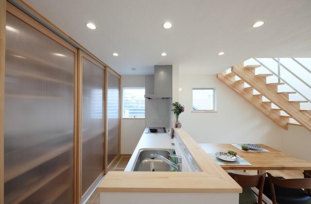 キッチン - グッドホームかごしま 坂之上モデルハウス