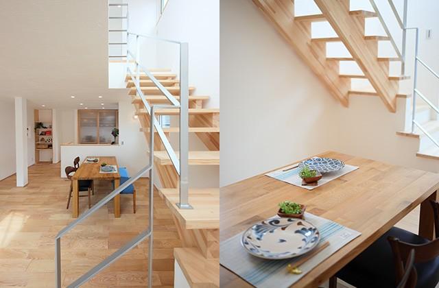 リビング階段 - グッドホームかごしま 坂之上モデルハウス