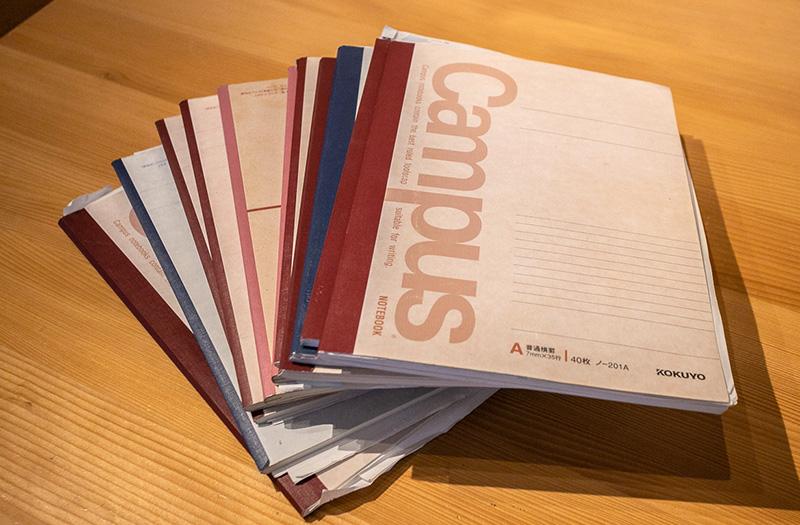ノートは10冊以上も。竹下社長の熱量が伝わってきます