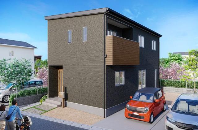 西餅田6B 5LDK 新築一戸建住宅 かえるホームの建売住宅【2階建】