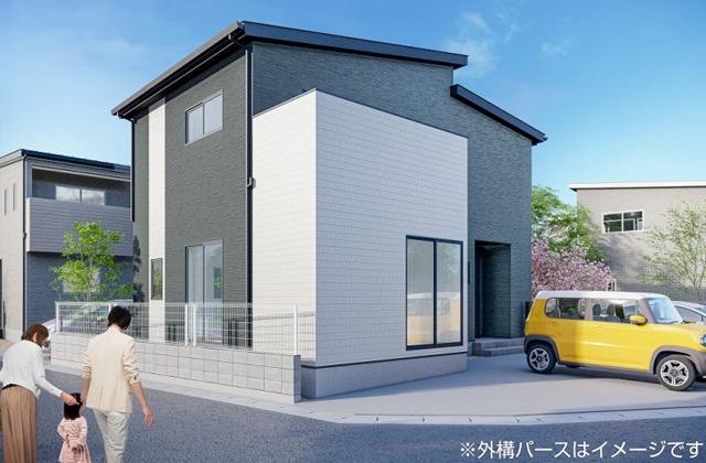 かえるホーム 西餅田6A 5LDK 新築一戸建住宅 かえるホームの建売住宅【2階建】