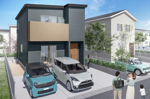 かえるホーム 吉野4 4LDK 新築一戸建住宅 かえるホームの建売住宅【2階建】